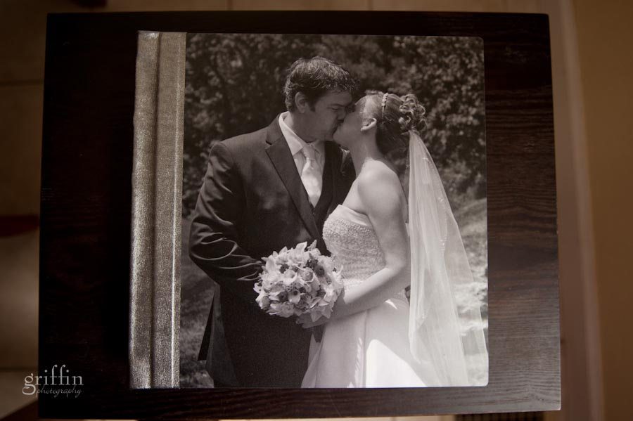 metal cover and Saturday Night Special silver leather wedding album cover.