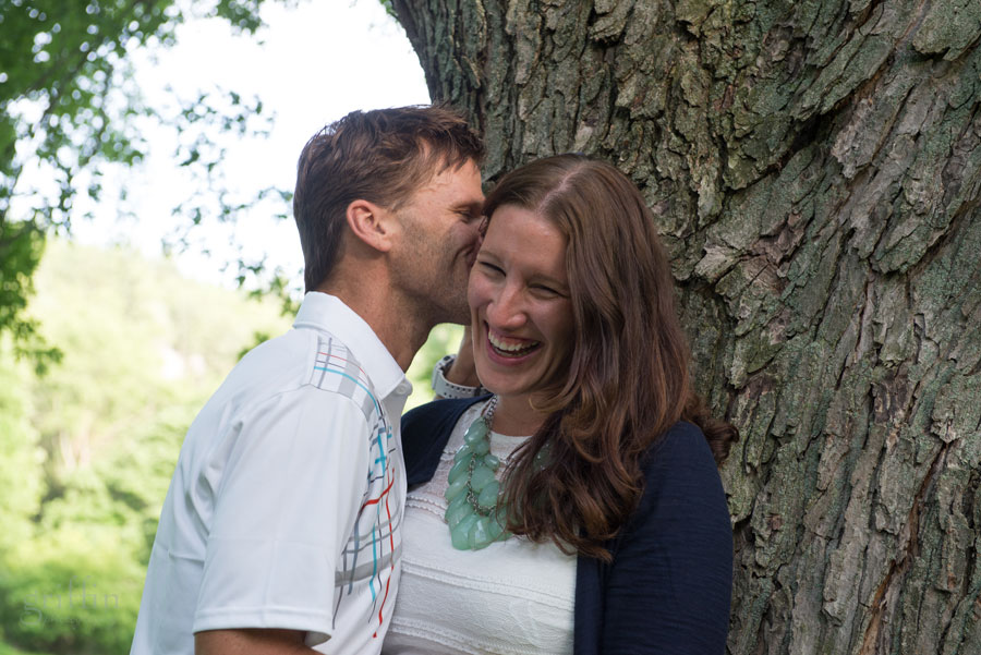 a little nuzzling action going on during the engagement session