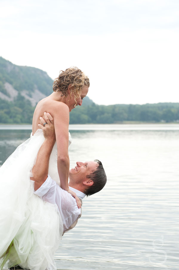 Dirty dancing water wedding shot.