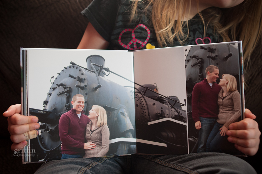 train depot engagement album guestbook