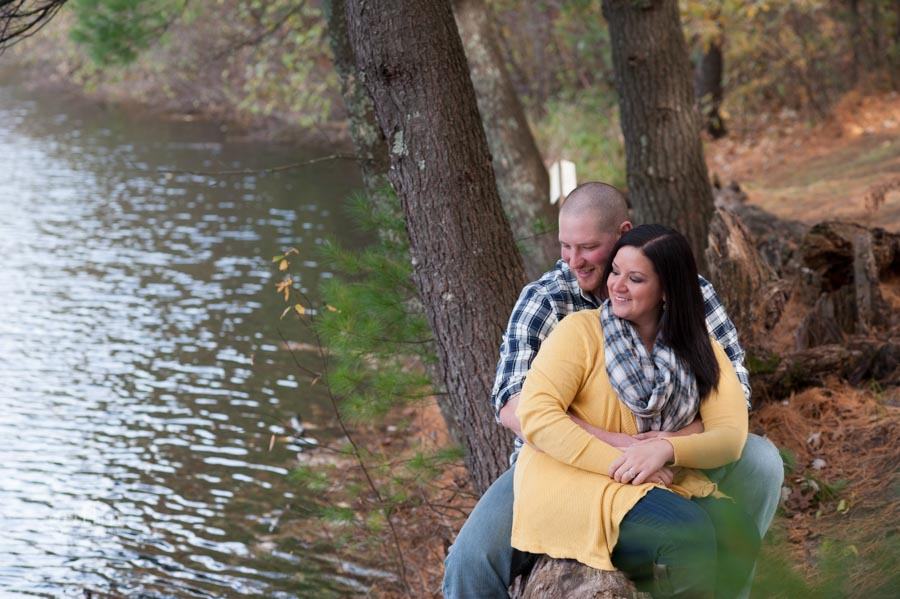 love and fun during the engagement session