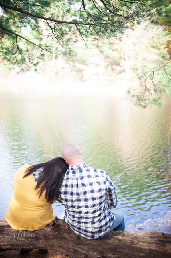 just a little fishing during the engagement session