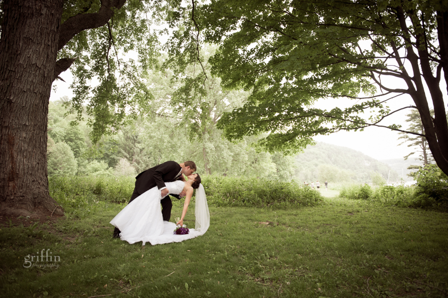 dipping the bride under a spreading Oak.