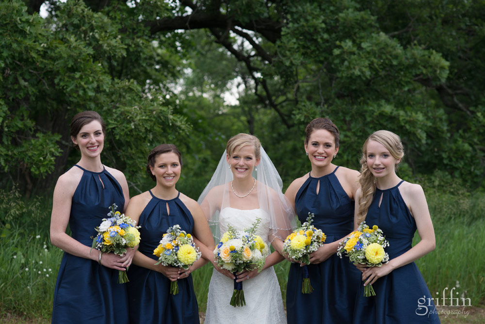 the ladies of the bridal party