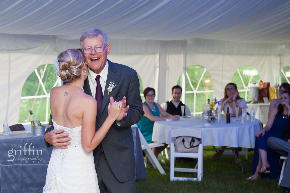 father of the bride dance and laughter