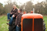 Tractor engagement session.