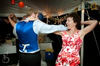 Corwin and his mom dancing at the reception.