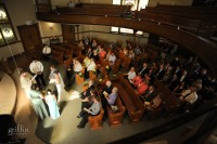 The packed church for Ed and Emilie's wedding.