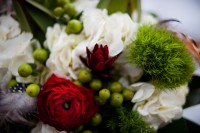 Close up of the bridal bouquet.