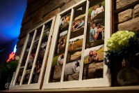 The engagement photos on display at the reception.